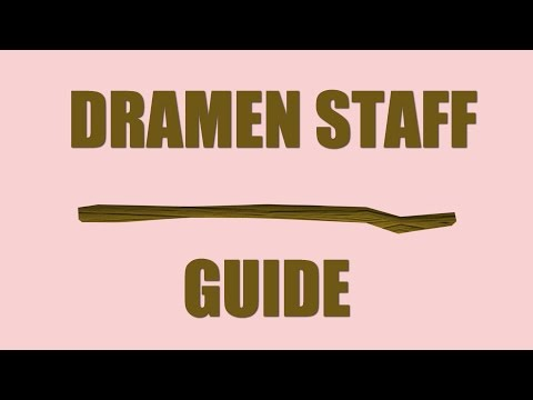 Old School RuneScape: How to get the dramen staff back?! 2017