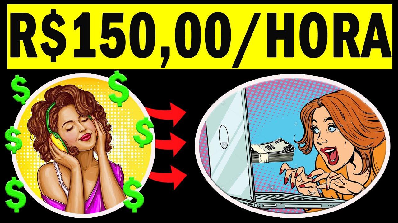 Ganhe R$150,00 POR HORA ouvindo áudios, NO PILOTO AUTOMÁTICO / Como ganhar dinheiro na internet