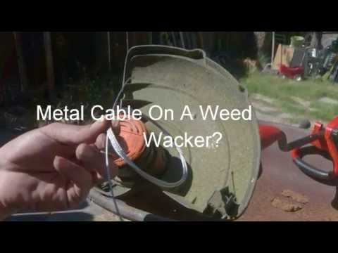 Metal Line In A Weed Wacker?