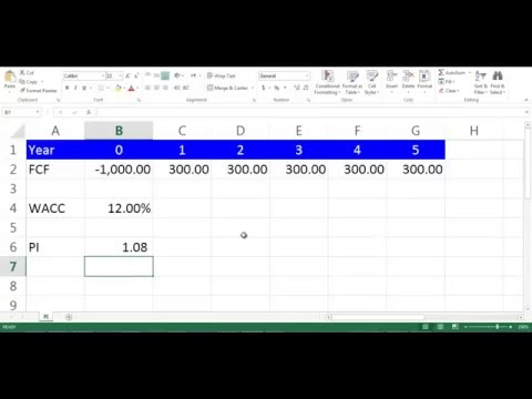 PI Calculation using Excel