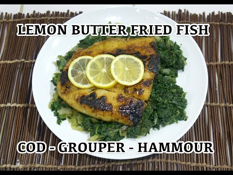 Lemon Butter Fried Fish Recipe - how to cook fish fillet Cod