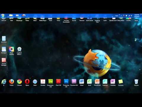How to Move the Taskbar Windows XP/Vista/7