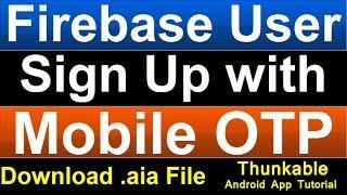 TinyWebDB User Login | Tiny Web DB Sign Up System | Thunkable