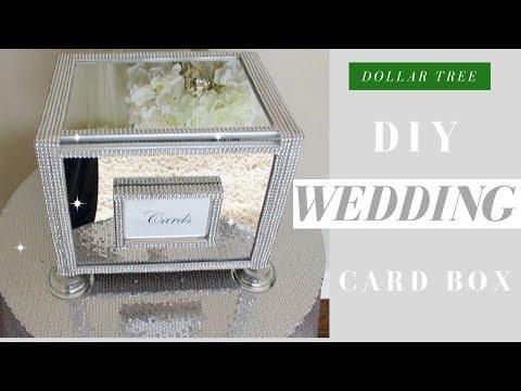 DIY WEDDING CARD BOX | DOLLAR TREE BLING Wedding Card Box