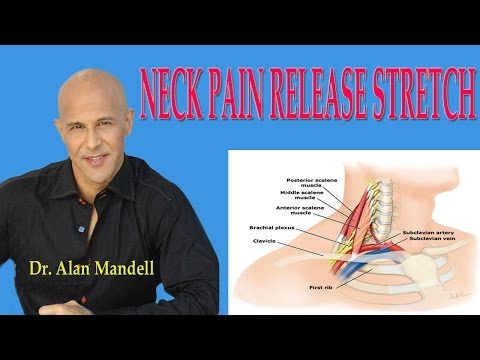 Neck Pain Release Stretch (How to Decompress Pinched Nerve) - Dr Mandell
