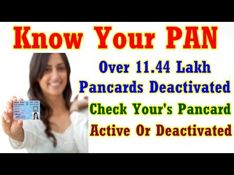 11.44 Lakh Pancards Deactivated; Find Out Yours PanCard Is Still Active ?