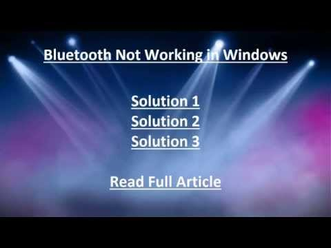 Solution 2: Bluetooth Not Working in Windows 10