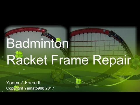 DIY: How to repair/fix a broken racket frame