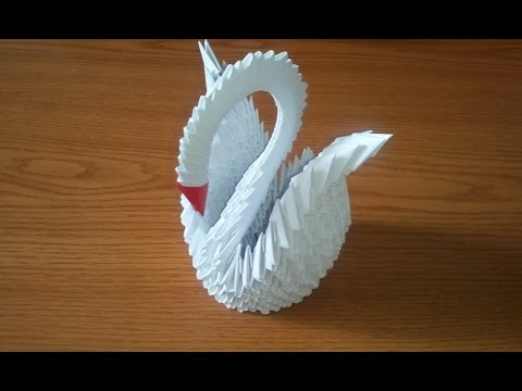 How to make 3d origami swan (updated)