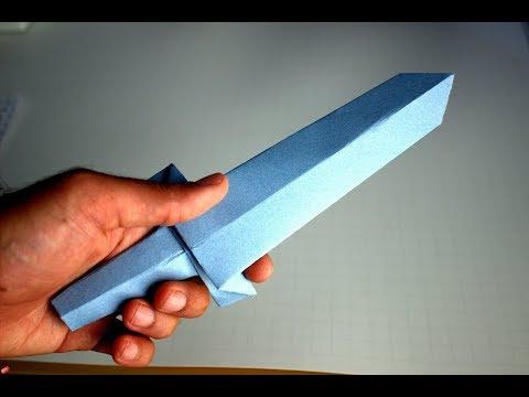 Como hacer una espada de origami