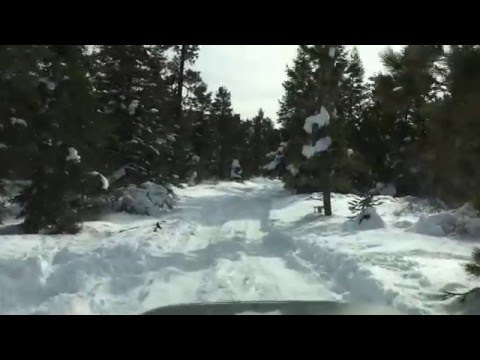 Toyota 4runner off road snow