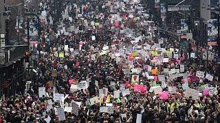 Washington leads global anti-Trump protests
