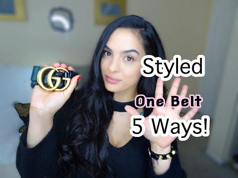 Gucci Belt Styled 5 ways!