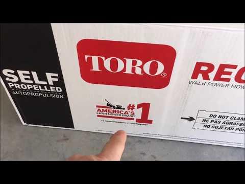 TORO Mower Un-boxing