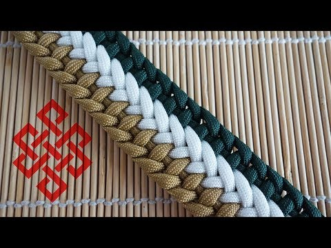 How to Make a Tricolor Weave Paracord Bracelet Tutorial
