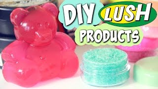 DIY LUSH Lip Scrub & Shower Jelly + HAUL // Handmade Cosmetics & Bath Products How To