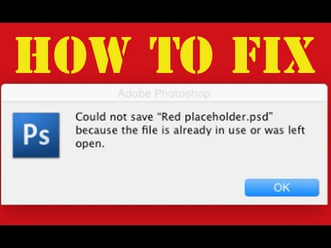EASY FIX: Could Not Save File Already In Use Mac OS X
