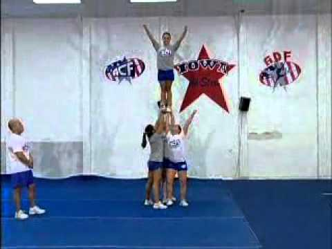 Advanced Stunts Cheerleading Training