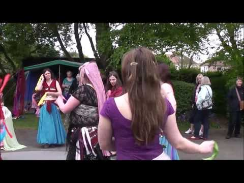Belly dancing Ashton Park, West kirby 2014 Audience particiption