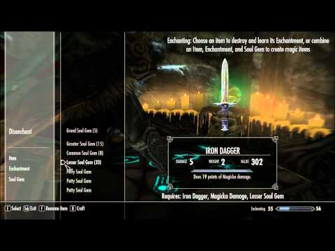 Skyrim: How to Level Enchanting and Smithing HD
