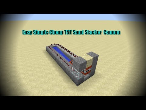How to cannon through water walls Minecraft tnt  cannon  simple sand stacker