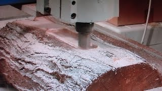 Download 55 CNC router making *$30,000* 3D Art Décor picture from a log