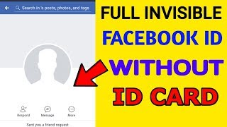 How To Make Invisible Blank (Empty) Name Id On Facebook 2017