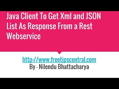 Java client To Return Xml Or JSON List From Get Method in REST service