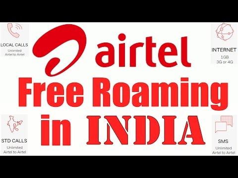 Airtel free roaming across India