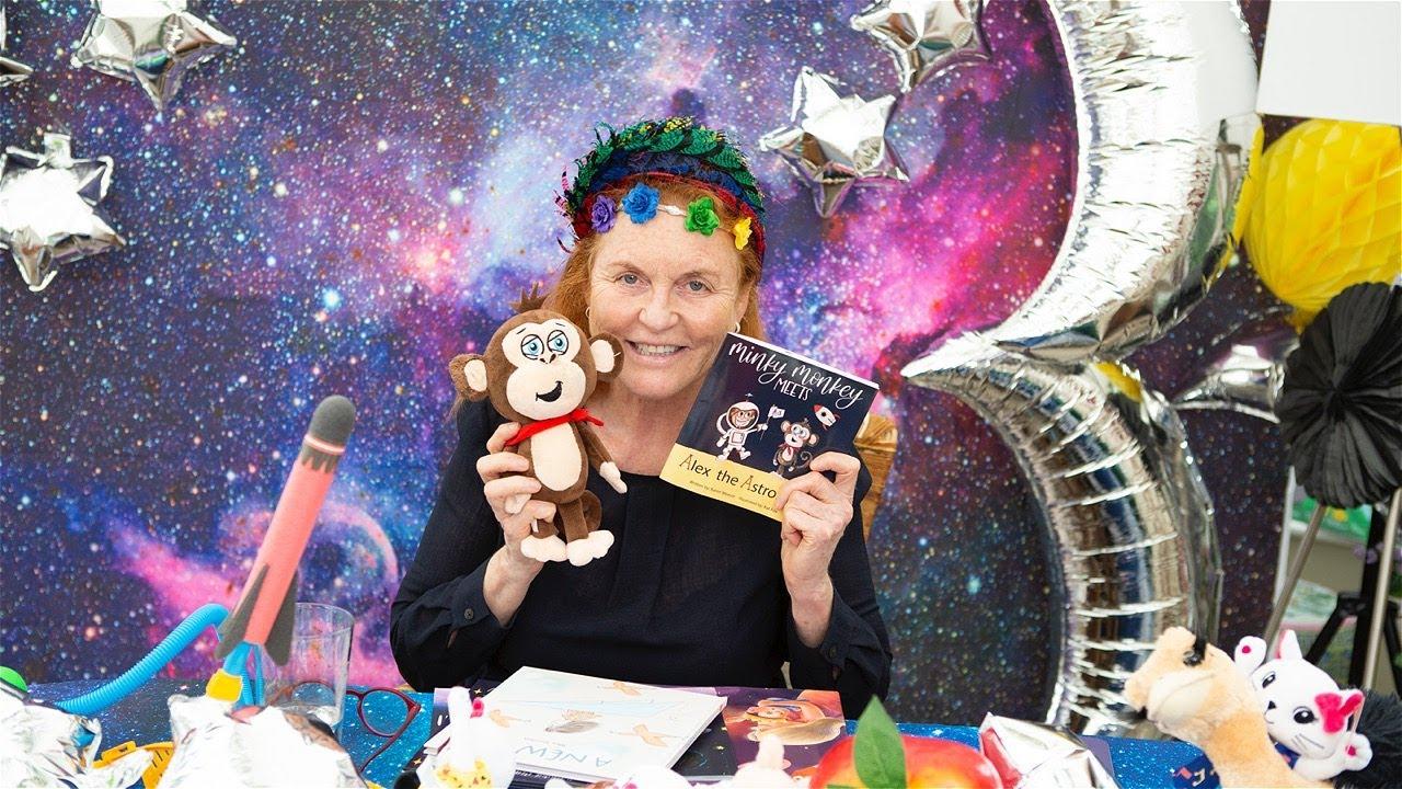 Sarah Ferguson reading Minky Monkey Meets Alex the Astronaut by Karen Weaver