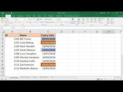 Excel Conditional Formatting with Dates - 5 Examples