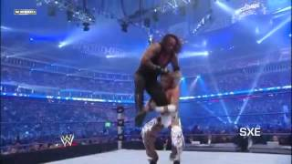Undertaker Vs Shawn Michaels   Wrestlemania 25 Highlights