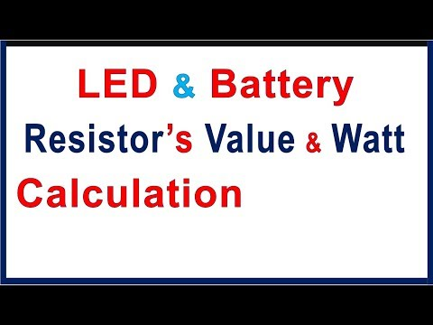 LED Resistor value calculation with experiment