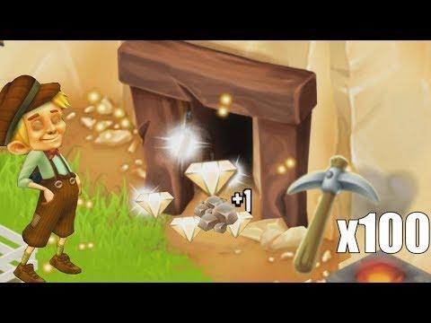 DIAMOND FARMING?! Hay Day - 100 Pickaxes vs Mine Experiment