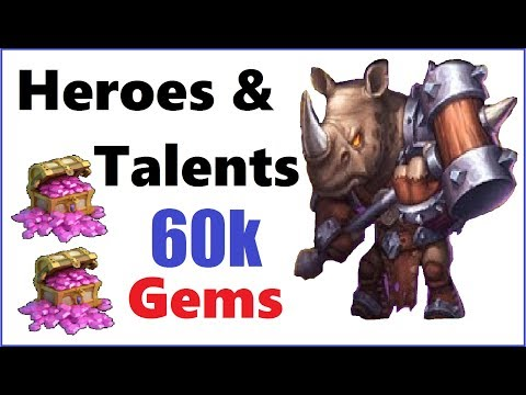 60,000 Gems for Heroes, Talents + Events Castle Clash
