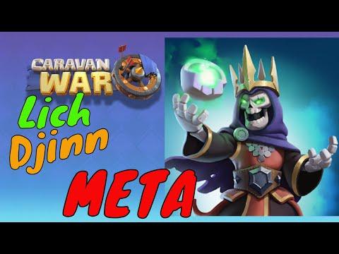 Caravan War - Djinn Lich best META Strategy
