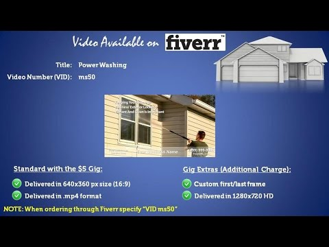 Power Washing Marketing Video VID ms50