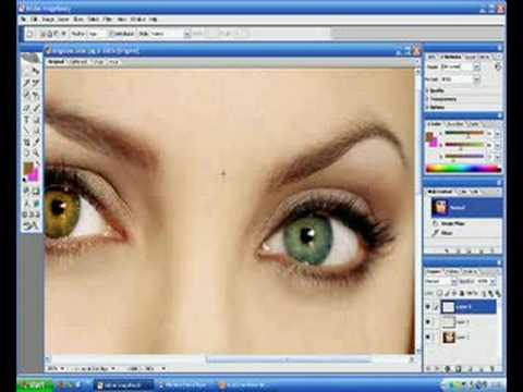 Tutorial Photoshop Cs2 how to change colour of eyes