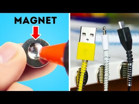 12 GENIUS LIFE HACKS TO FINALLY ORGANIZE YOUR CABLES AND WIRES