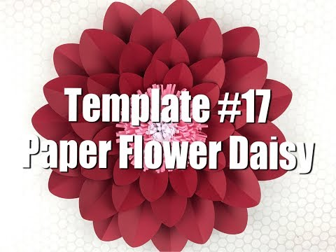 DIY Paper Flower Tutorial Using Template #17