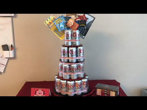 Babes 35th birthday set up | Beer can cake