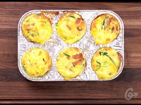 Gluten-Free Zucchini-Bacon Egg Muffins