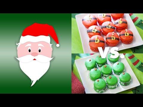 SANTA'S CHRISTMAS MACARONS (CRANBERRY CHEESECAKE)