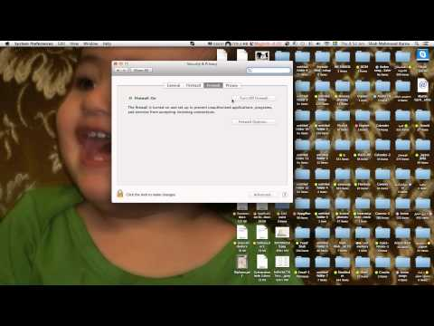 how to turn firewall on & off mac