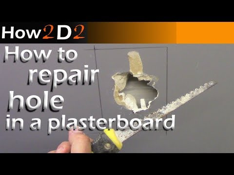 How to repair plasterboard Repairing drywall board