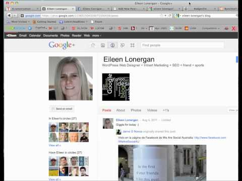 how to add the rel=author link for google | eileen lonergan