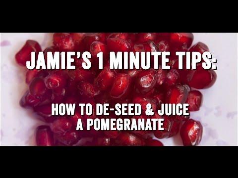 Как Правильно Очистить Гранат - Джейми Оливер / How To De-Seed A Pomegranate - Jamie Oliver