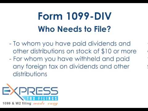 Form 1099 DIV