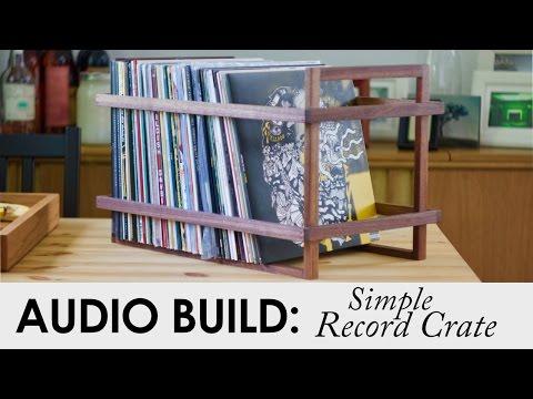 Simple Walnut Record Crate | DIY Home Audio