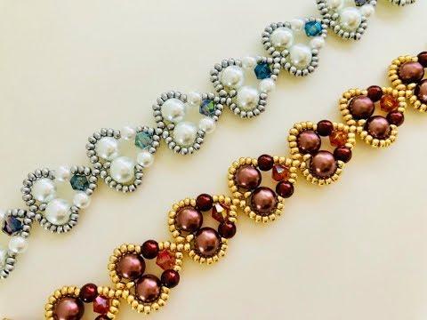 Simple Hearts 💕 Beaded Bracelet 💞 Super Easy Tutorial